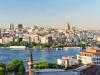 View of the Golgen Horn and Galata district at sunset, Istanbul